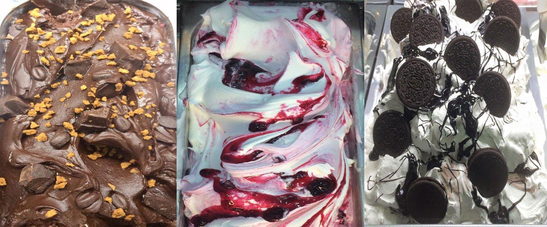 Gelato all'amarena e gelato al cioccolato al rhum di Cuba-Gelato agli Oreo a Marano Di Napoli