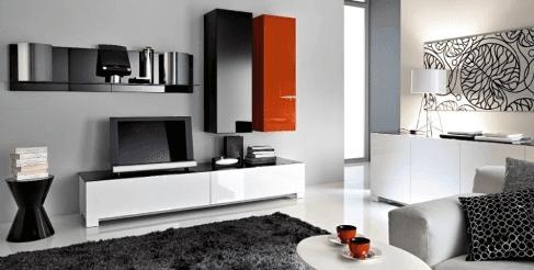 mobili arredamento moderno zona giorno laccato