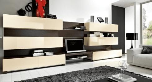 mobili in legno laccato per salotti