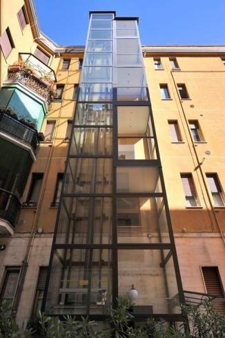 Montaggio ascensore esterno