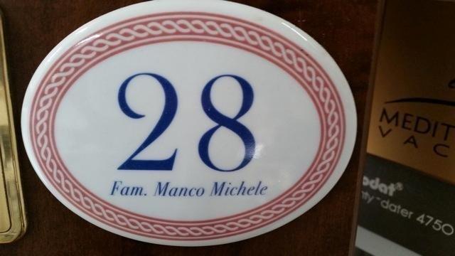 numero civico ovale ceramica