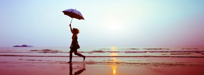 Young women  near sea shore
