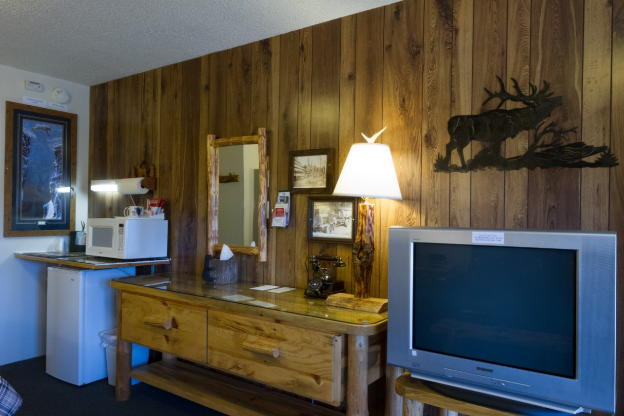 Cabin interior staircase