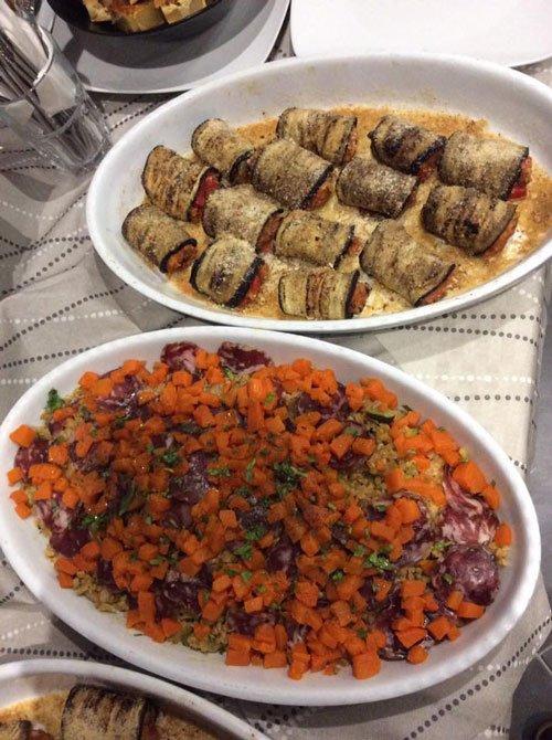 dei piatti a base di verdura