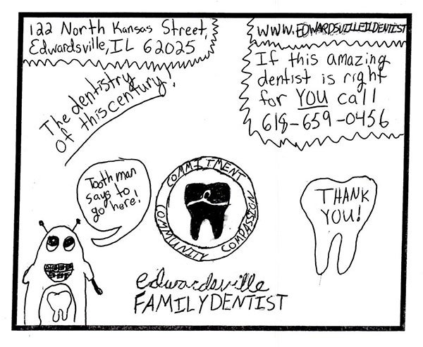 Dentists in Edwardsville and Glen Carbon drawing contest winner