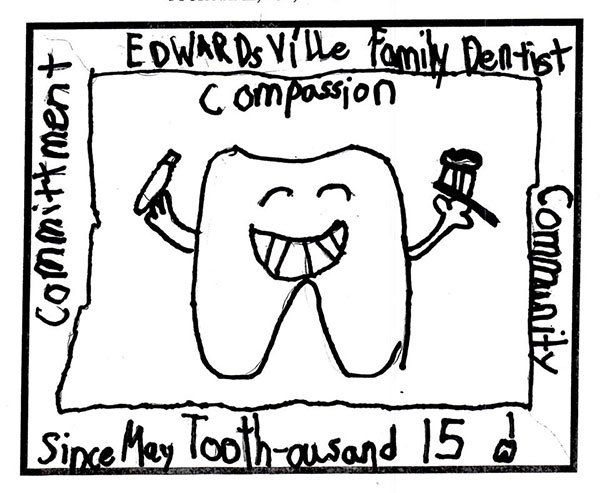 Edwardsville dental office drawing contest in conjunction with Edwardsville Intelligencer