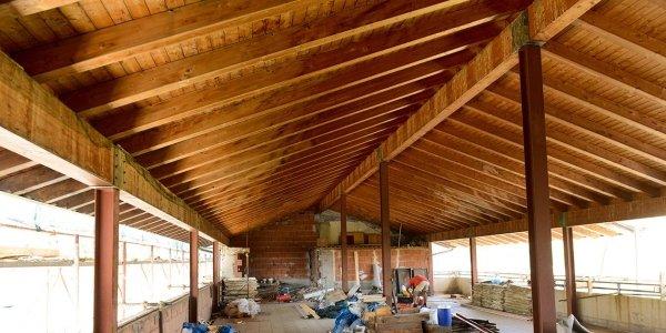 costruzione di tetti in legno