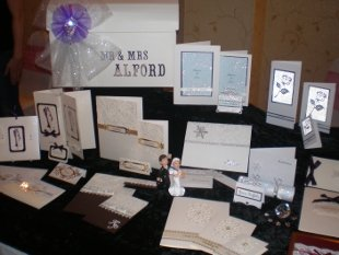 Selection of the invitations and wedding stationery that Bizzyfingers stocks