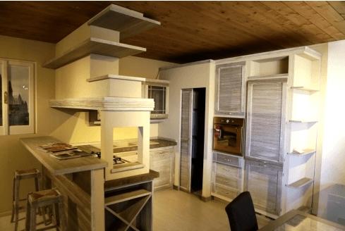 Cucina in muratura mod. Terre di Toscana colore bronzo Zappalorto.
