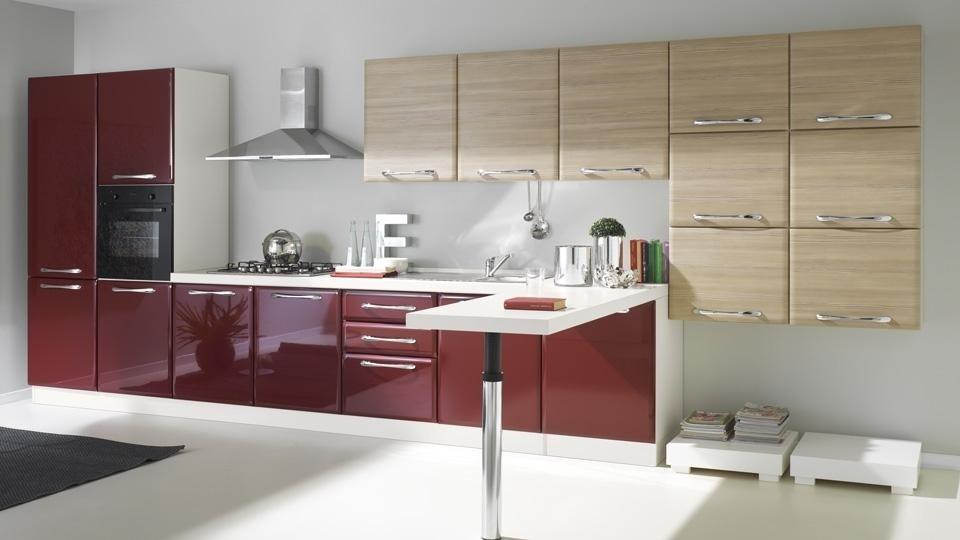 cucina lucida colorata