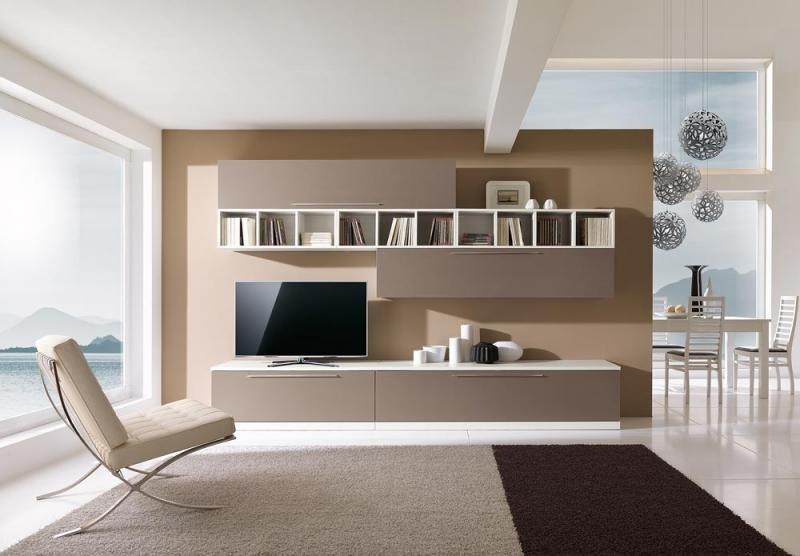 parete attrezzata con libreria