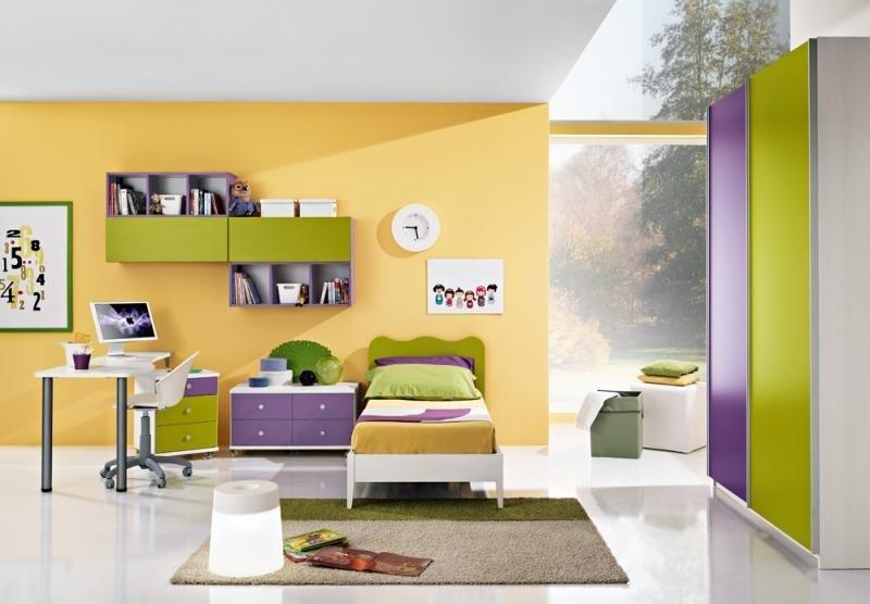 cameretta verde e viola