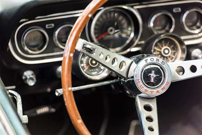 Mustang car interior