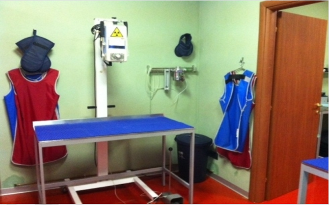 stanza per radiografie