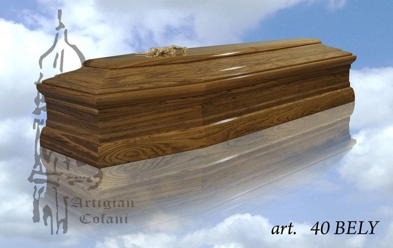 una bara in legno modello 40 Bely