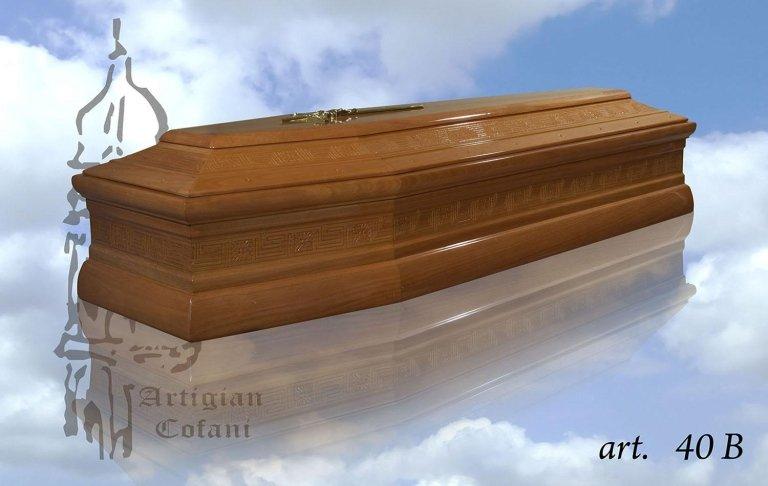una bara in legno modello 40 B