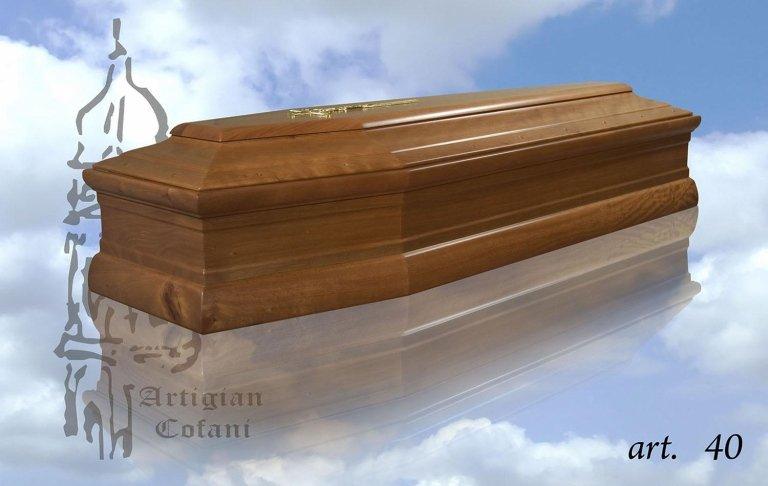 una bara in legno modello 40
