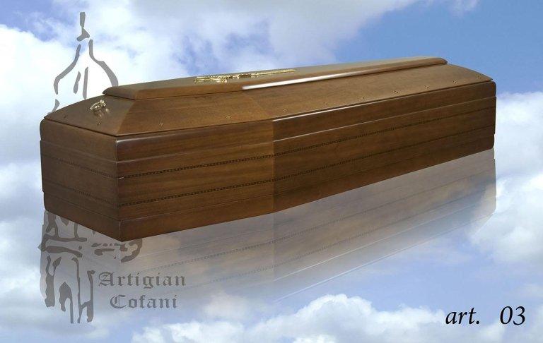 una bara in legno modello 03