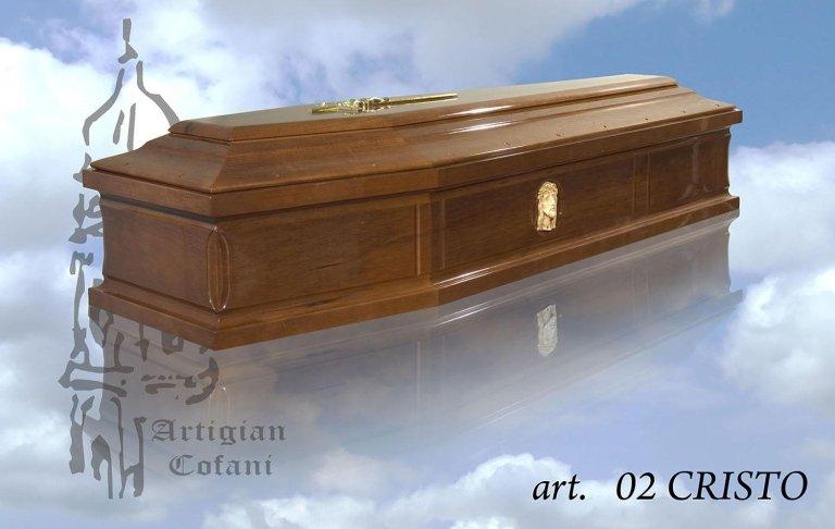 una bara in legno modello 02 Cristo
