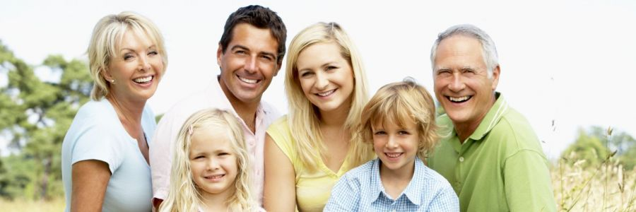 Family happy with their cosmetic dentist in Archdale, NC