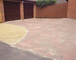 after cleaning block paving