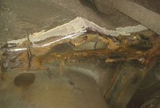 Escort XR3 Rear chassis repair- A