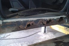 Land rover discovery sill repair - A