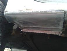 Renault sill repair