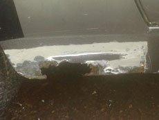 Porsche 944 rear sill repair -A