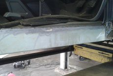 Land rover discovery sill repair - B