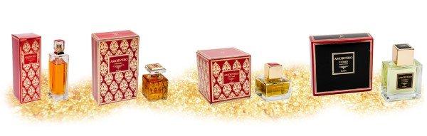 Profumi di lusso in confezioni regalo
