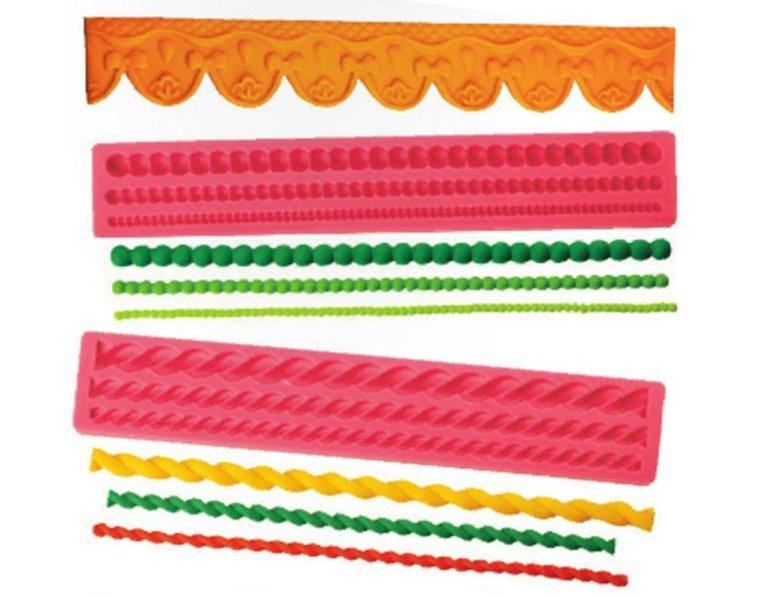 decorazione di torte lunghe spirale corda
