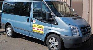 partial view of van
