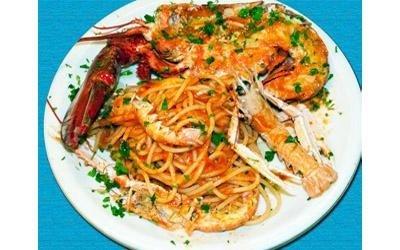 spaghetti con astici
