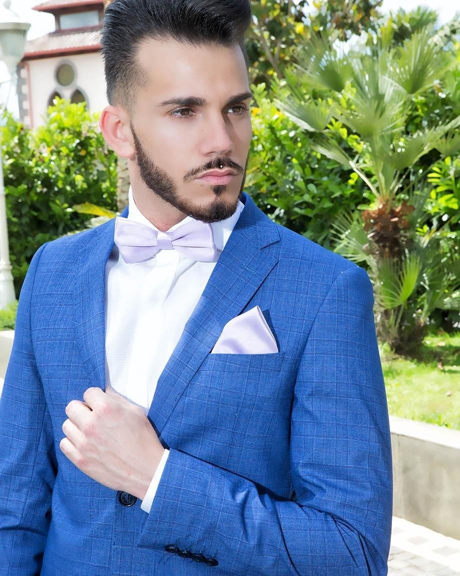 Abito uomo classico blue e bianco
