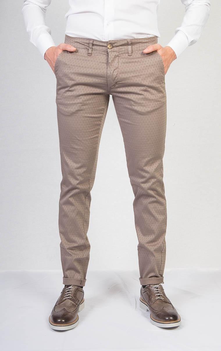Pantalone casual tortora chiaro