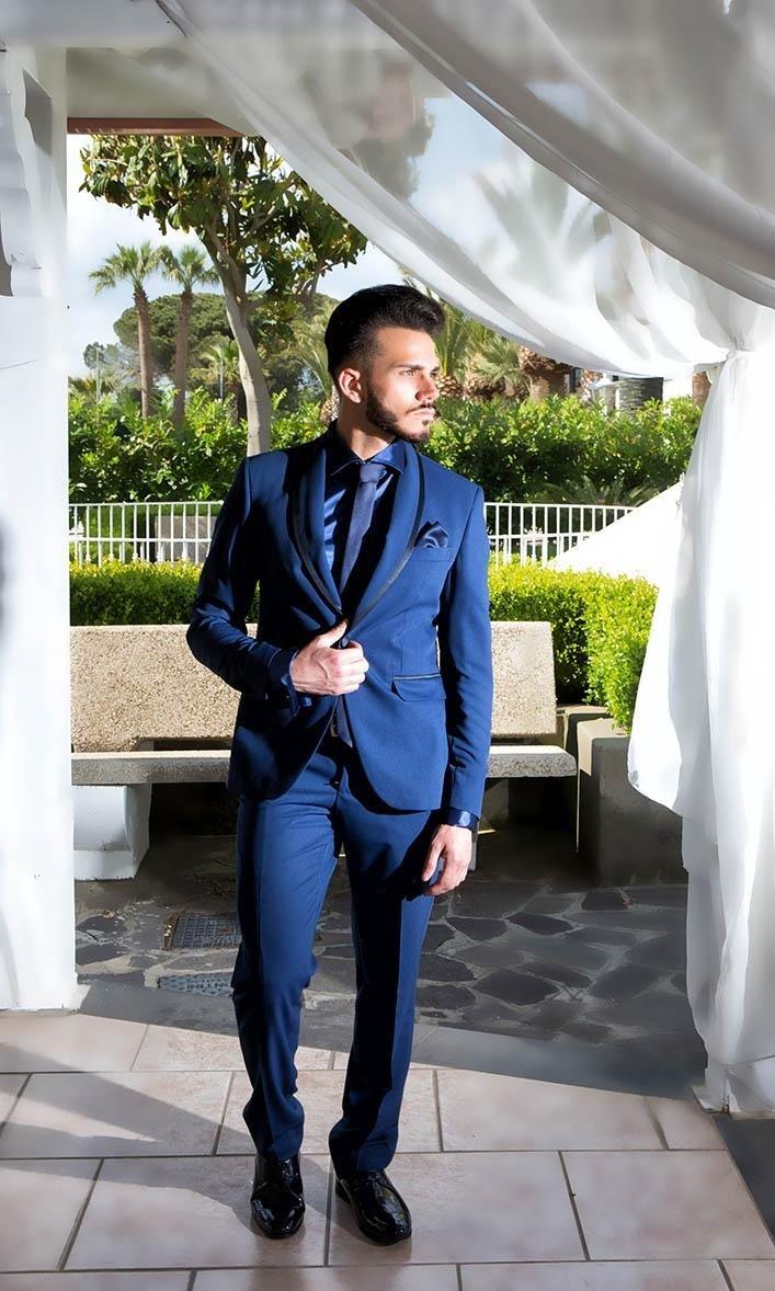 Abito da sposo blu