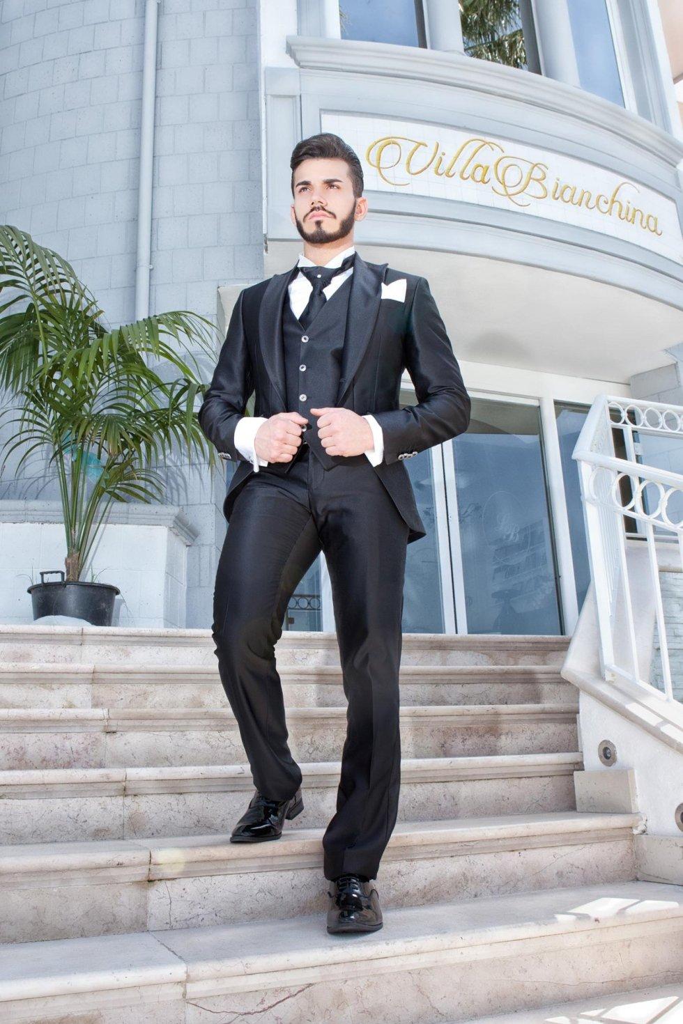 Abito classico nero matrimonio uomo