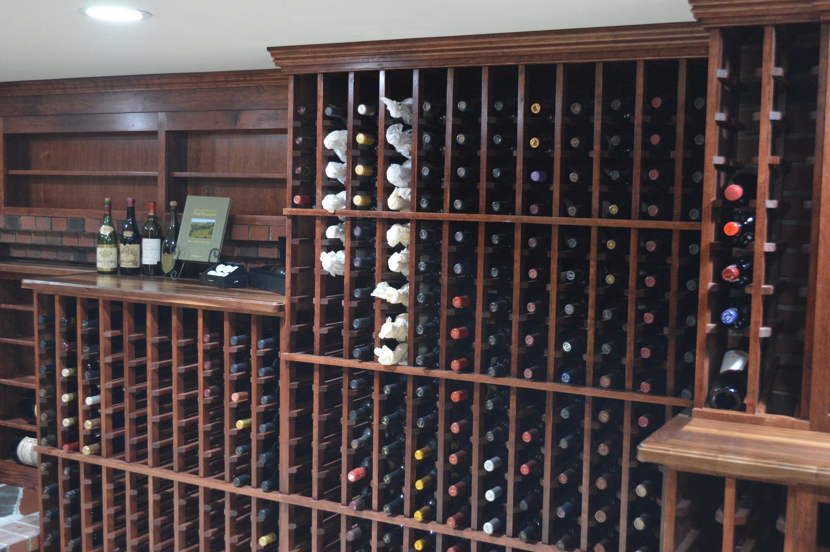 View of double deep individual wine racks