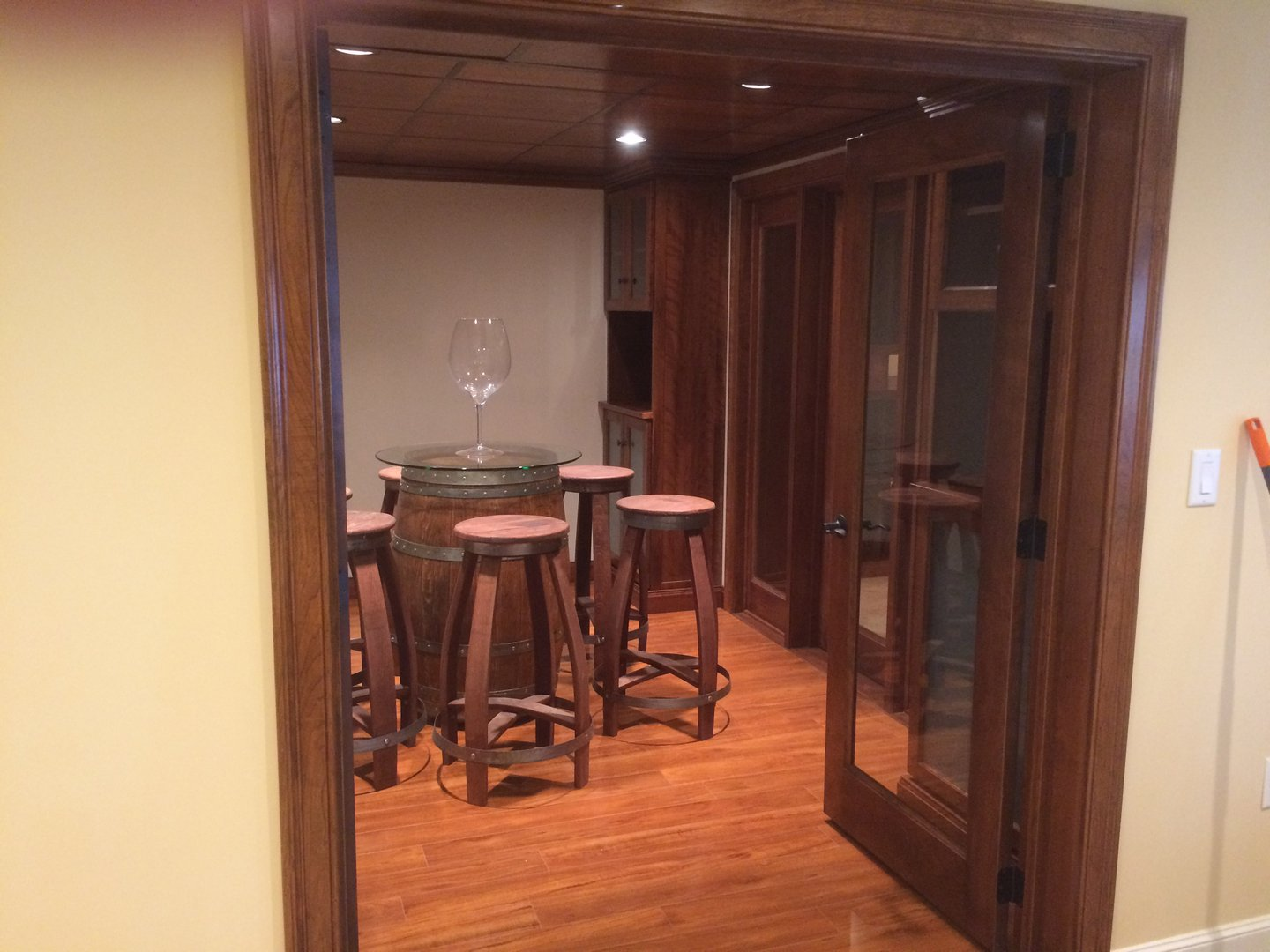 View through open doors into the Tasting Room
