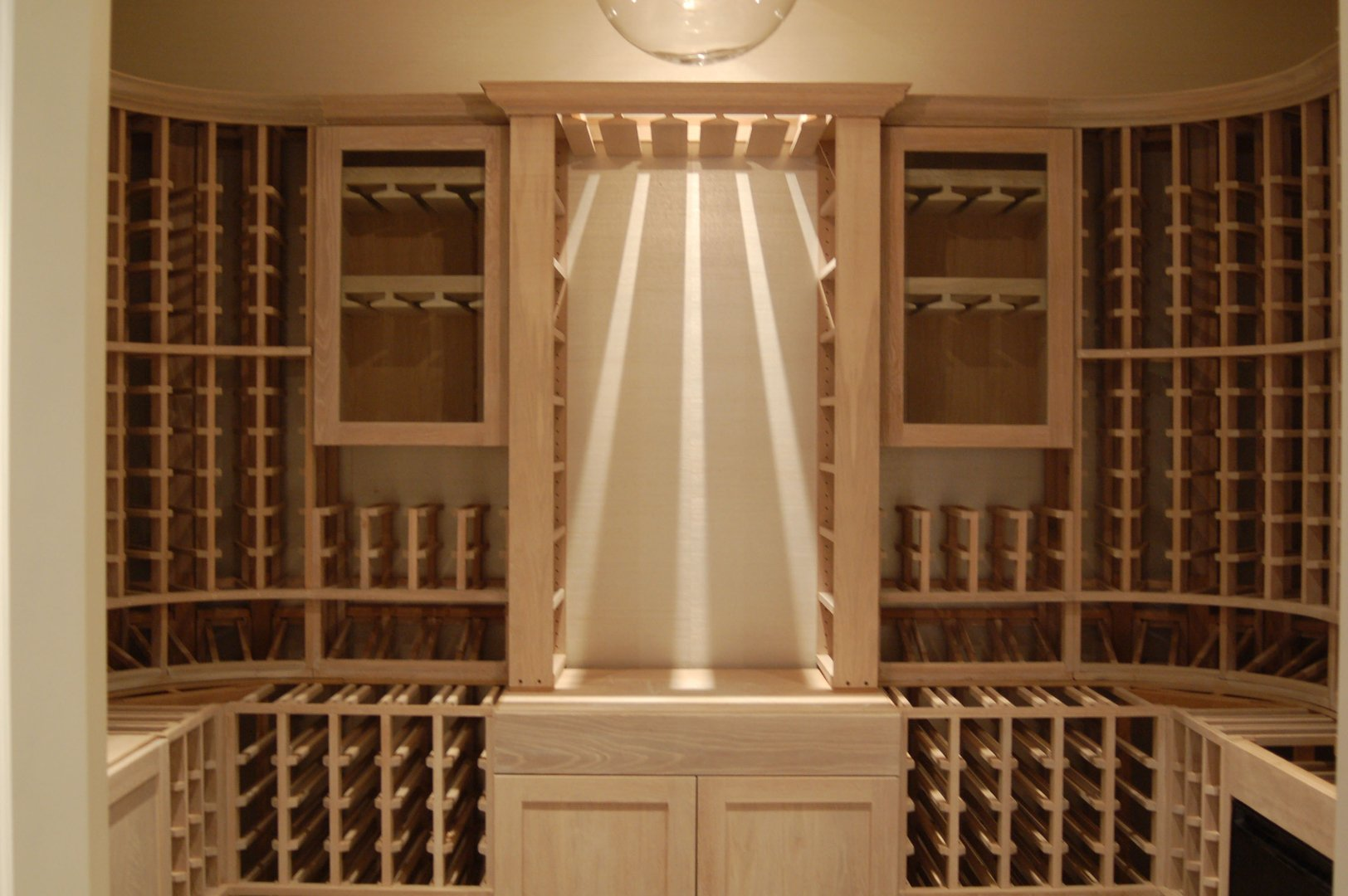 home wine room lighting effect. Beachside - View Of Decanting Area With Open Top Through Stemware Rack For Lighting Effect Home Wine Room C