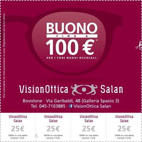 banner promozionale vision ottica salan