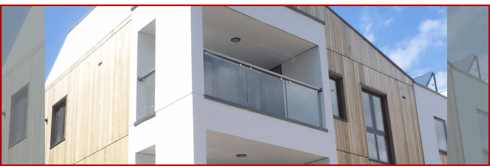 Glass balustrade on a block of flats
