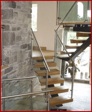 New staircase in a living room