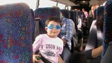 a boy in the bus