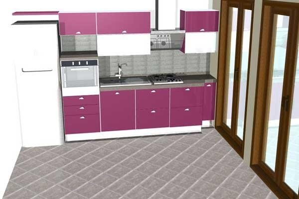 Progetto cucina viola