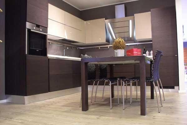 Cucina laccata due colori