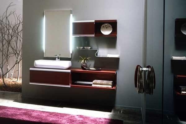 Mobiletto lavabo legno