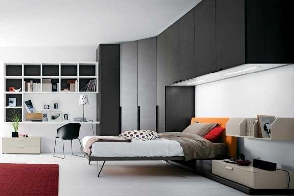 Camera da letto con armadio angolare