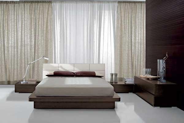 Camera da letto matrimoniale legno scuro